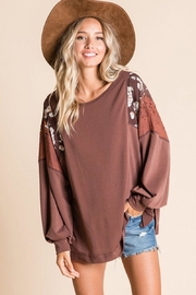 Ces Femme Mix-Match Boxy Top - Front cropped
