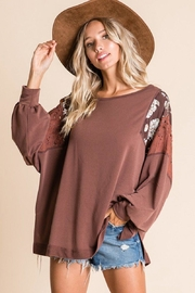 Ces Femme Mix-Match Boxy Top - Front full body