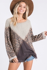 Ces Femme Mixed Matched Tunic - Front cropped