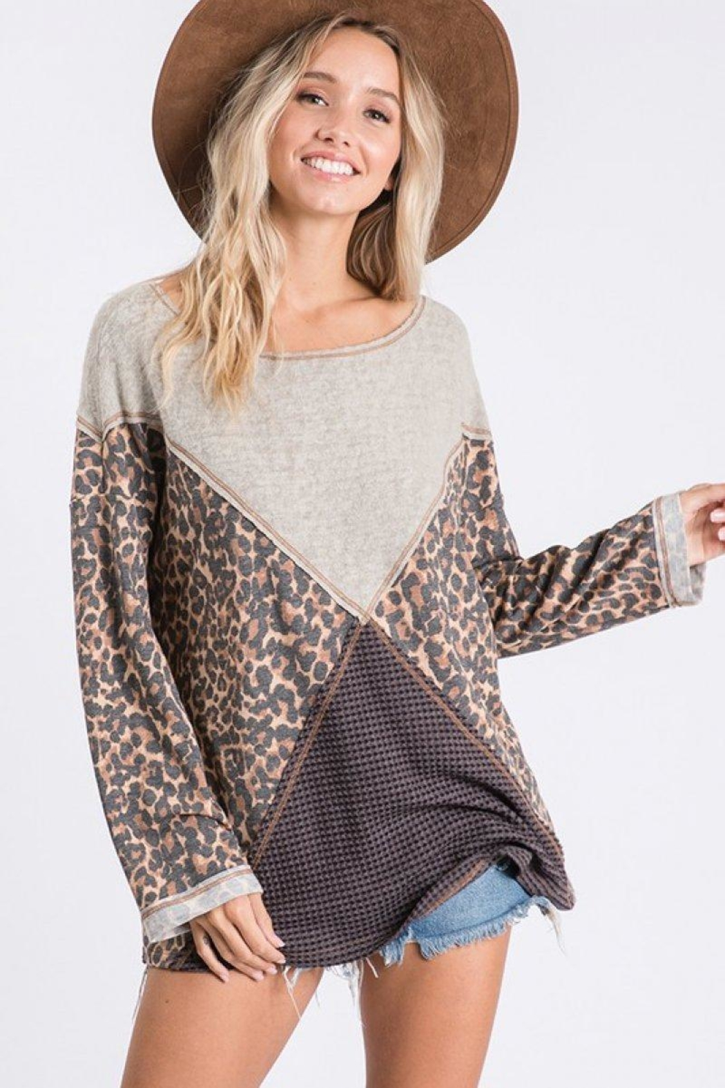 Ces Femme Mixed Matched Tunic - Main Image