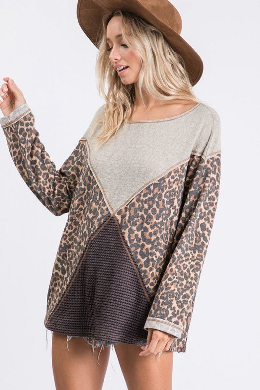 Ces Femme Mixed Matched Tunic - Side Cropped Image