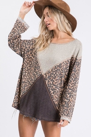 Ces Femme Mixed Matched Tunic - Front full body