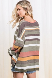 Ces Femme Multi Color Stripe Colorblock Tunic Top - Back cropped