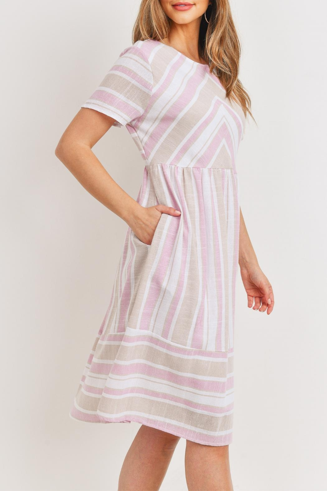 Ces Femme Pink-Taupe Midi Dress - Side Cropped Image