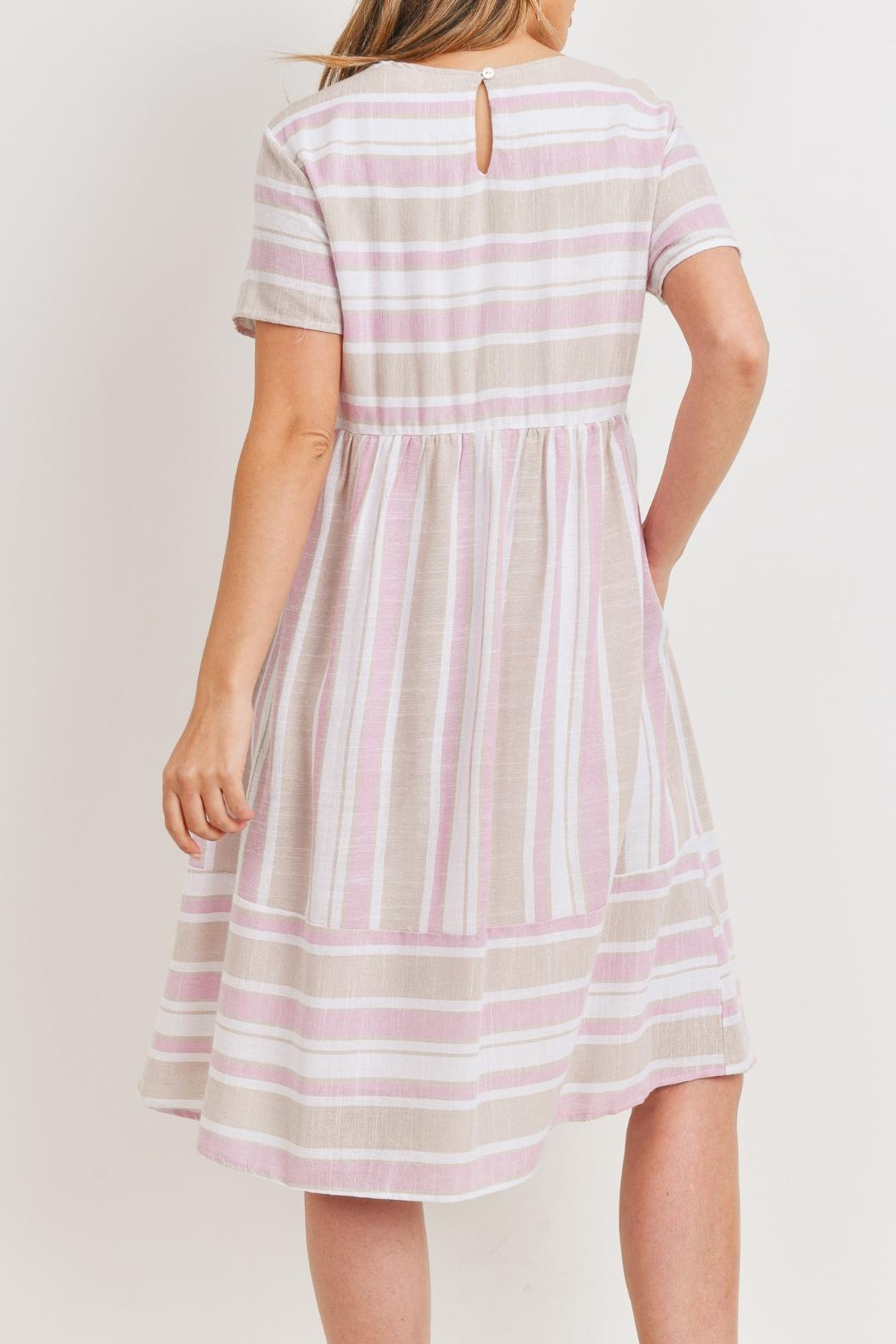 Ces Femme Pink-Taupe Midi Dress - Back Cropped Image