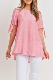 Ces Femme Pink Tie-Sleeve Top - Product Mini Image