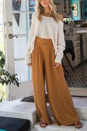 Ces Femme Ribbed Palazzo Pants - Front cropped