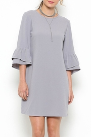 Ces Femme Ruffle Sleeve Dress - Front cropped