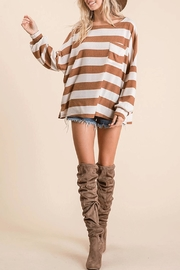 Ces Femme Striped Pullover Sweater - Product Mini Image