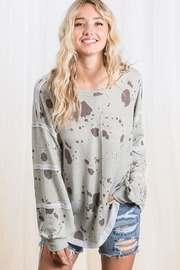 Ces Femme Vintage Print Long Sleeve Top - Front full body