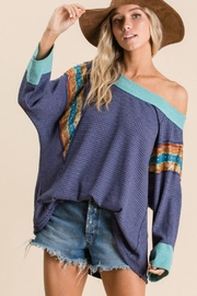 Ces Femme Waffle Knit Top - Product Mini Image