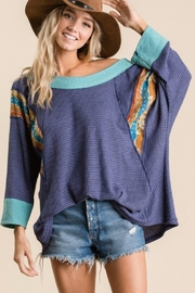 Ces Femme Waffle Knit Top - Side cropped