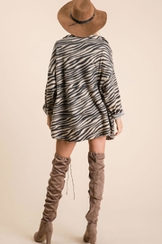Ces Femme Zebra Print Button Down Shirt - Side cropped