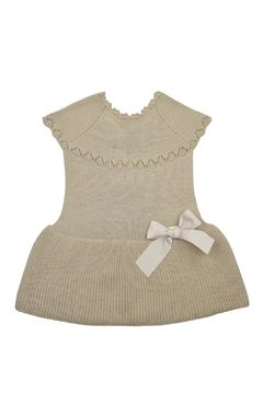 cesar blanco Beige Knitted Dress - Product List Image