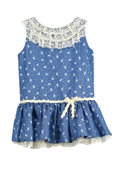 cesar blanco Bird Denim Dress - Product List Image