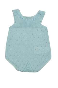 cesar blanco Blue Crocheted Onesie - Alternate List Image