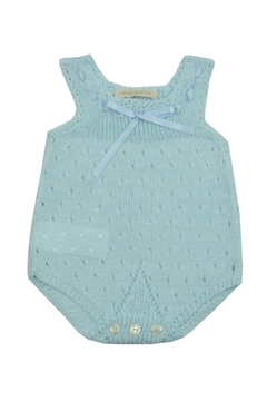 cesar blanco Blue Crocheted Onesie - Product List Image