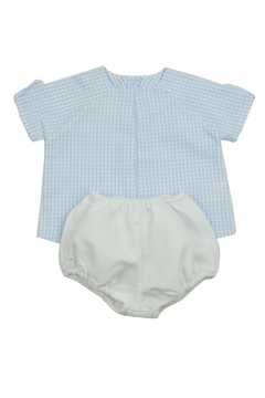 cesar blanco Blue Gingham Set - Product List Image