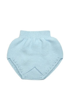 cesar blanco Blue Knitted Nappy - Alternate List Image
