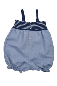 cesar blanco Blue Striped Romper - Alternate List Image