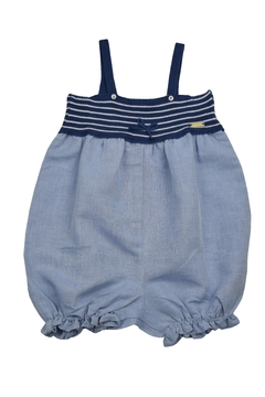 cesar blanco Blue Striped Romper - Product List Image