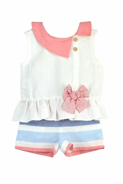 cesar blanco Coral & Blue Outfit - Product List Image