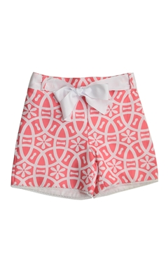 Shoptiques Product: Coral & White Shorts
