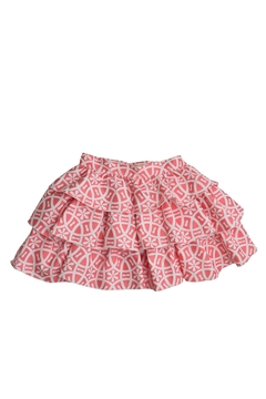 cesar blanco Coral & White Skirt - Alternate List Image
