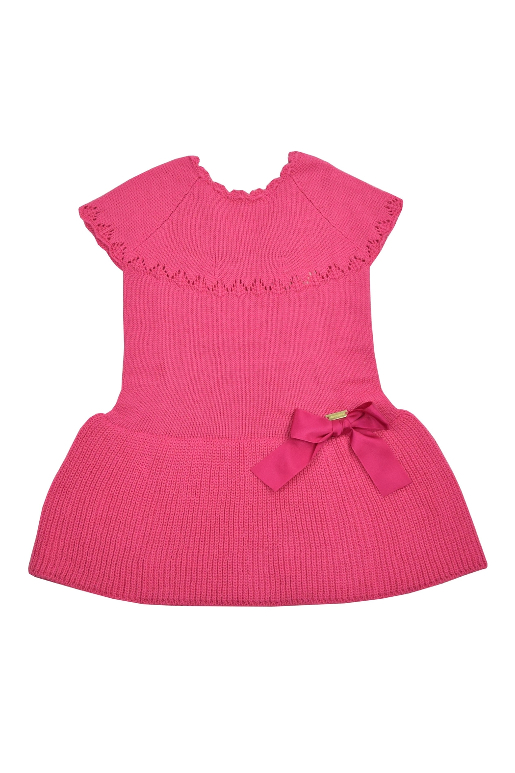 cesar blanco Fuchsia Knitted Dress - Main Image