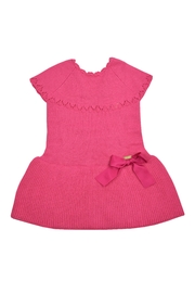 cesar blanco Fuchsia Knitted Dress - Front cropped