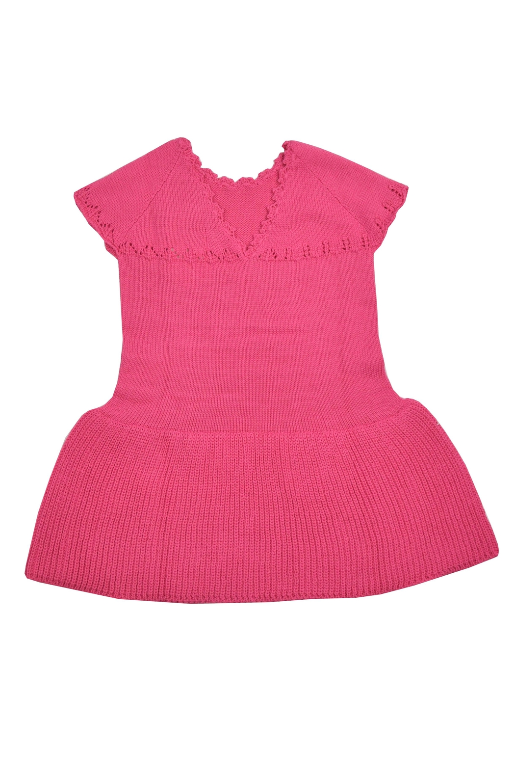 cesar blanco Fuchsia Knitted Dress - Front Full Image