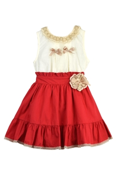 cesar blanco Ivory & Red Outfit - Product List Image