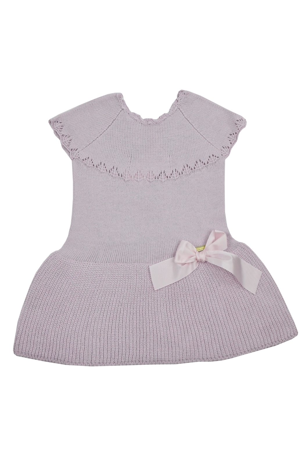 cesar blanco Lilac Knitted Dress - Front Cropped Image