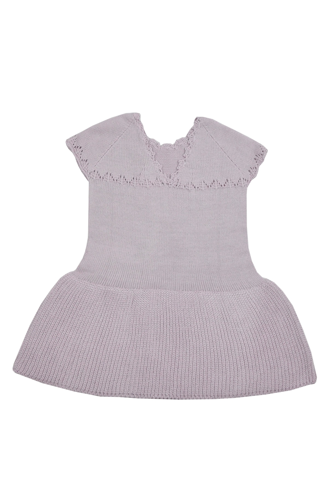 cesar blanco Lilac Knitted Dress - Front Full Image