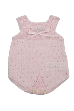 cesar blanco Pink Crocheted Onesie - Product List Image