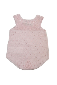 cesar blanco Pink Crocheted Onesie - Alternate List Image