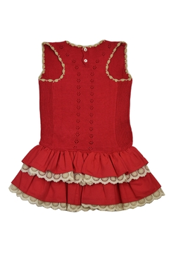 cesar blanco Red Ruffle Dress - Alternate List Image