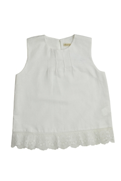 cesar blanco White Lace Tank Top - Alternate List Image