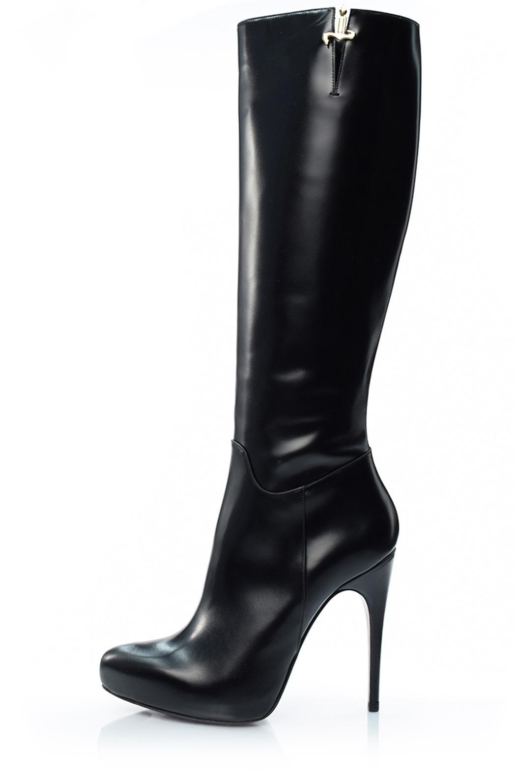 Cesare Paciotti Tall Black Boot - Front Full Image