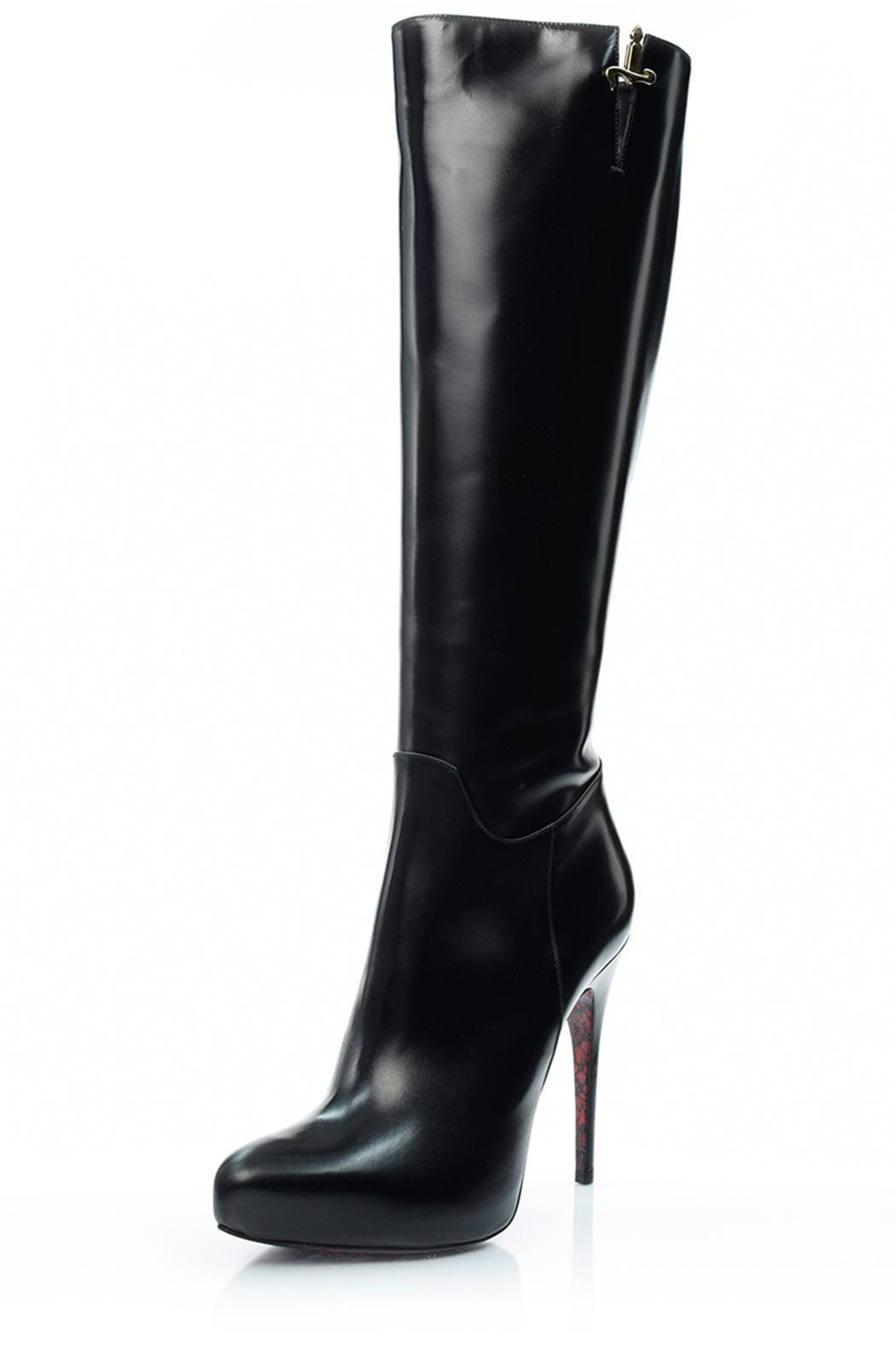 Cesare Paciotti Tall Black Boot - Front Cropped Image