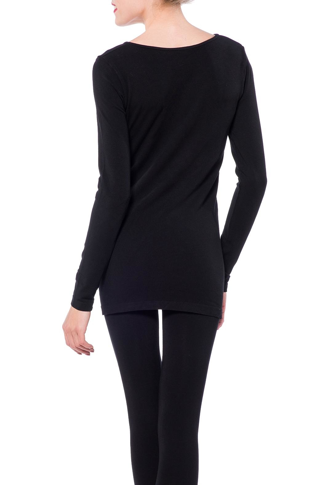 Cest Moi Bamboo Long Sleeve Top - Side Cropped Image