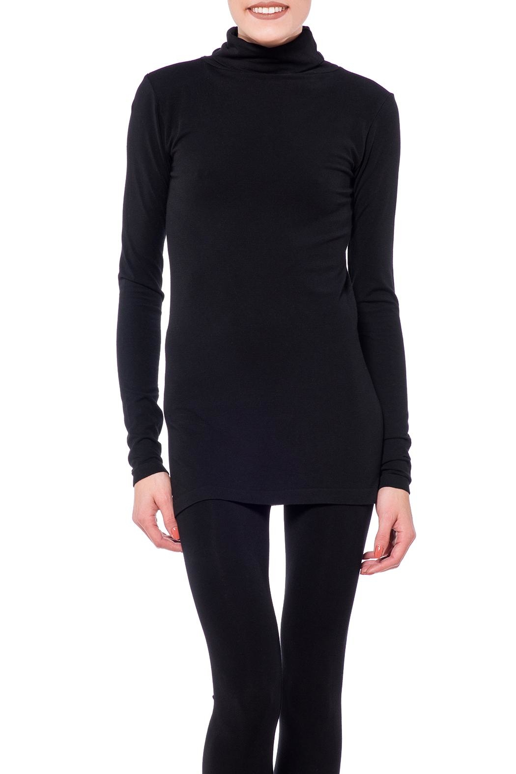 Cest Moi Bamboo High Neck Top - Front Cropped Image