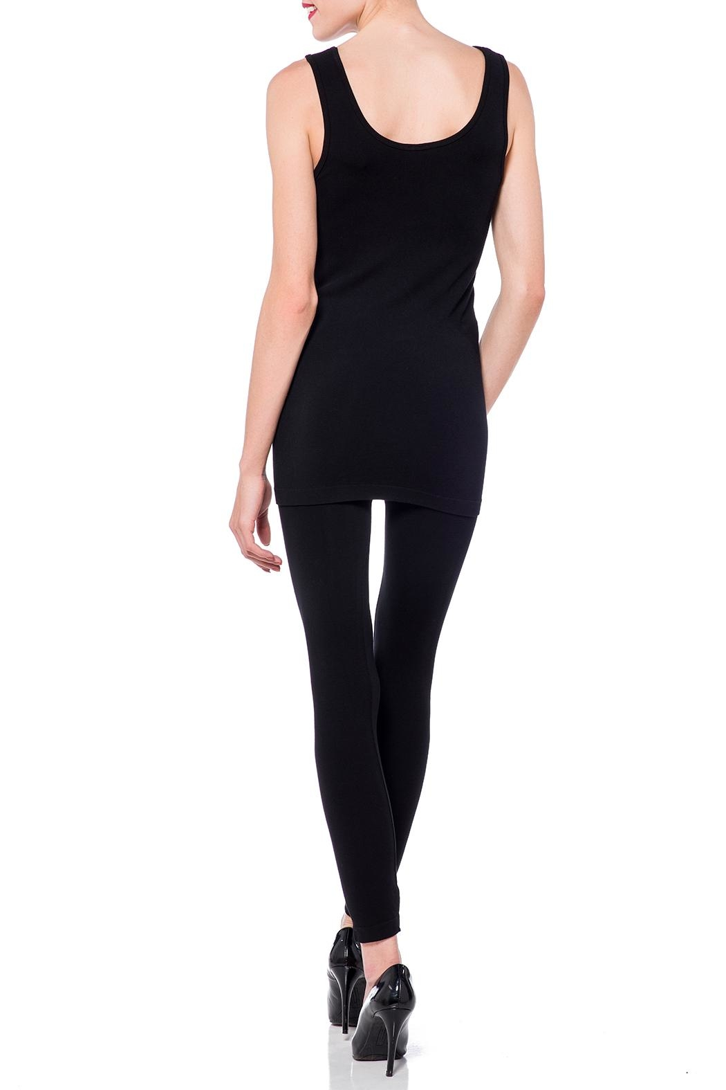 Cest Moi Black Bamboo Tank - Back Cropped Image