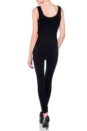 Cest Moi Black Bamboo Tank - Back cropped