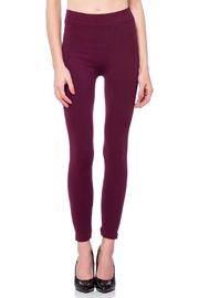 Cest Moi Wine Bamboo Legging - Product Mini Image
