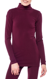Cest Moi Wine Bamboo Turtleneck Top - Product Mini Image