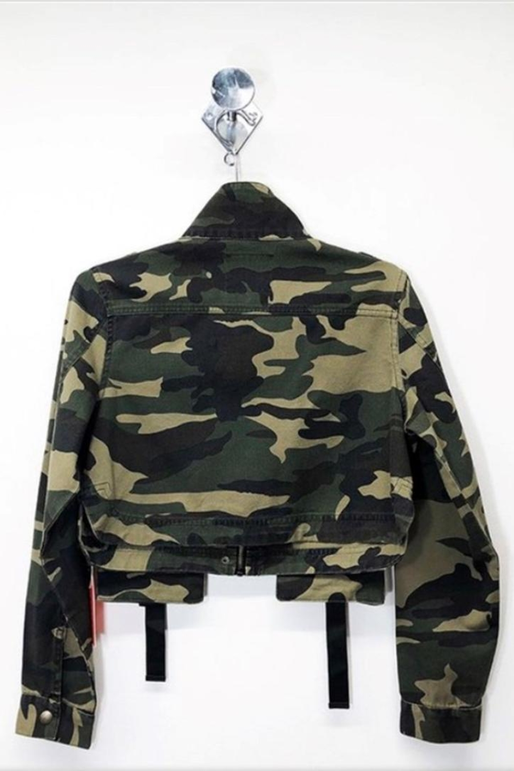 Cest Toi Camo Twill Jacket - Front Full Image
