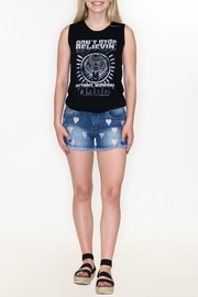 Cest Toi Heart Denim Shorts - Product Mini Image
