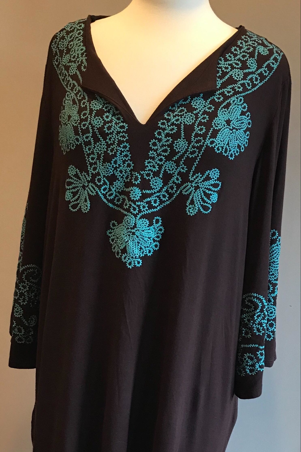 Cezanne Boho Tunic Dress/top - Front Cropped Image