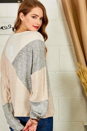 Cezanne Color-Block Lightweight Sweater - Front full body
